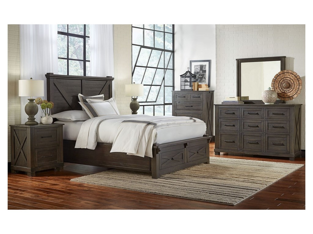AAmerica Sun ValleyKing Bedroom Group