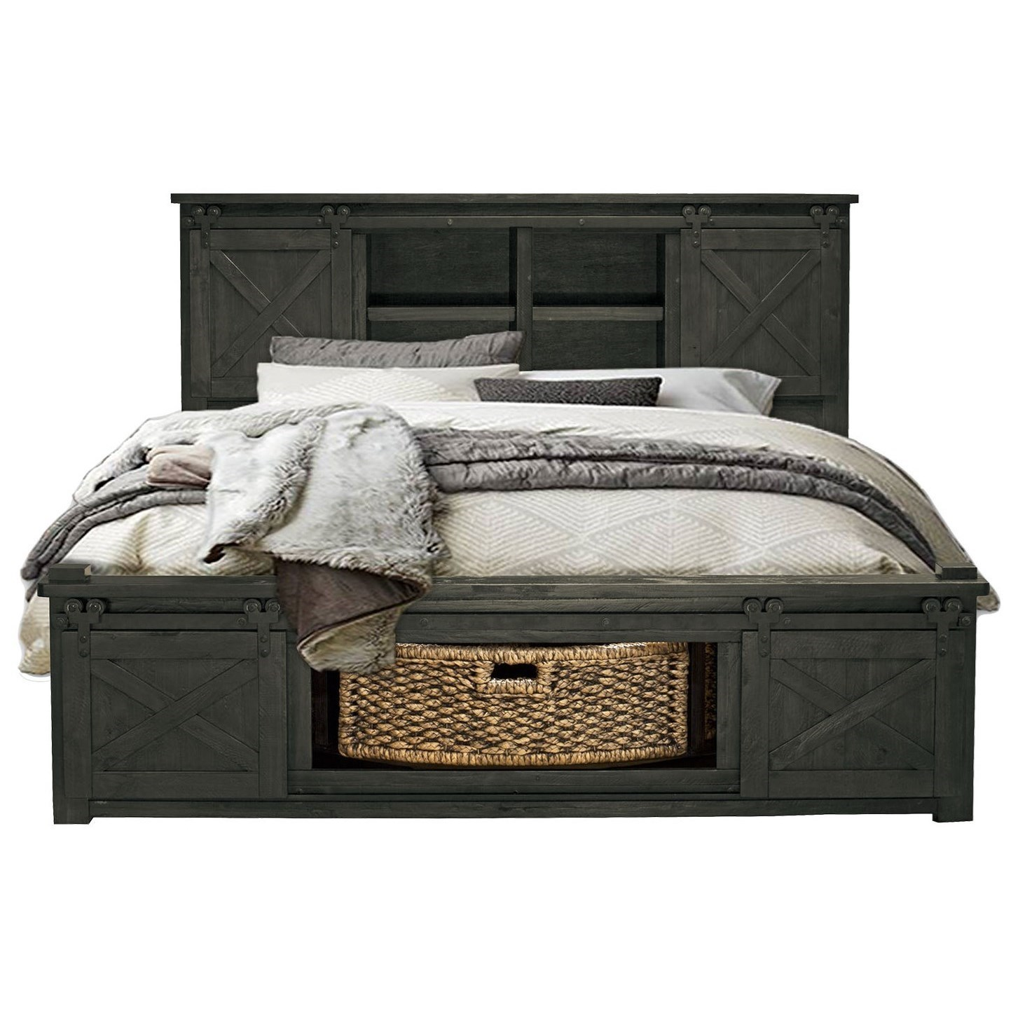 Queen Bed with Rotating Storage
