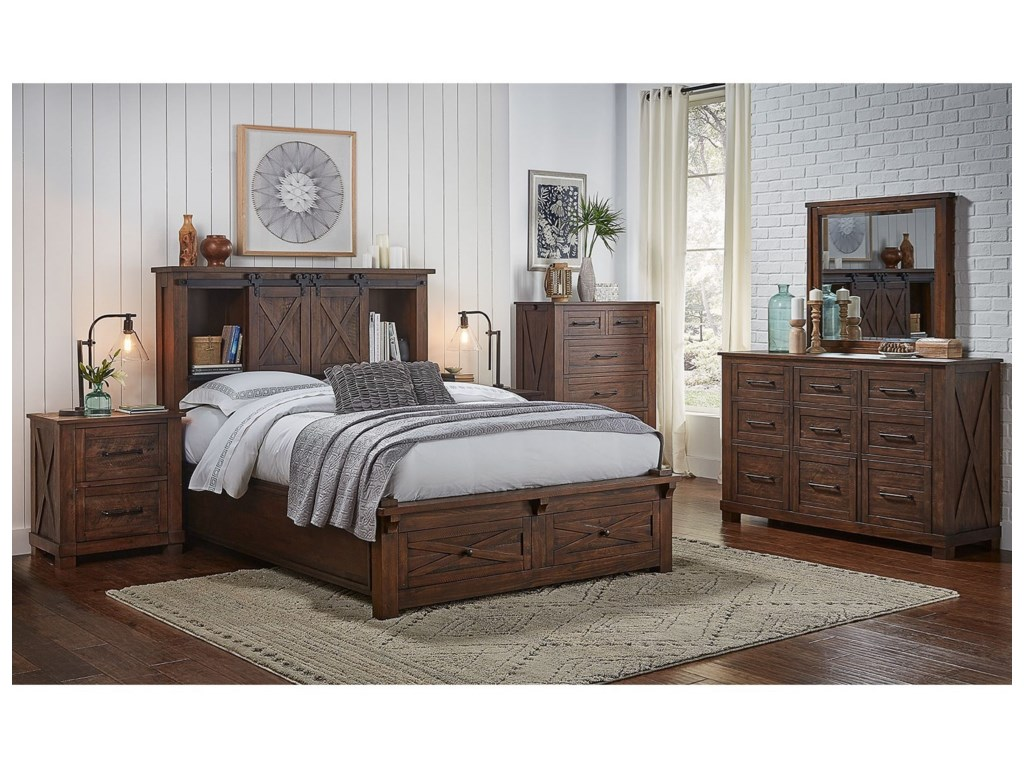 AAmerica Sun ValleyQueen Bedroom Group