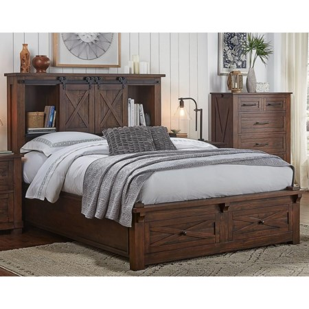 Queen Bed with Footboard Bench