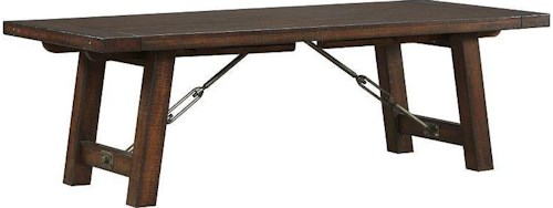 AAmerica Sundance Occ Rectangle Trestle Dining Table with Two Leaves