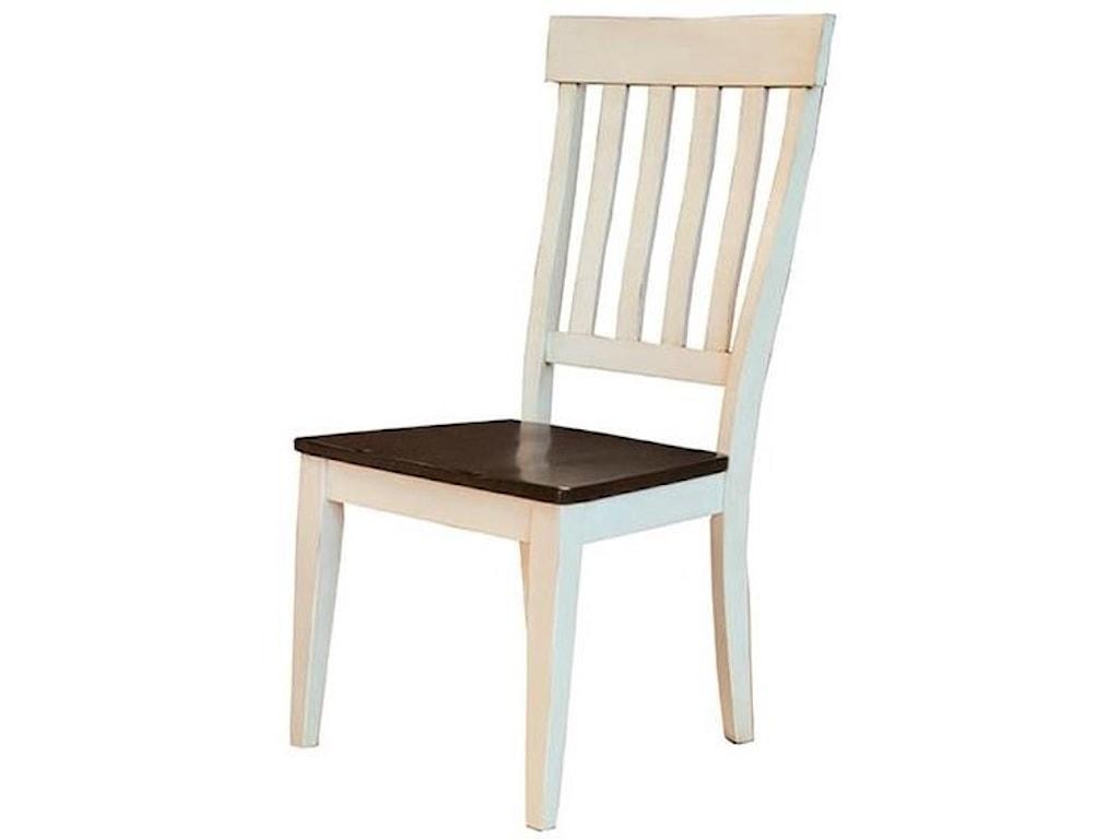 Aamerica Toluca Solid Wood Slat Back Side Chair