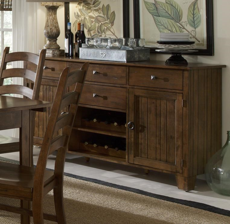 Wide Server with Removable Wine Racks