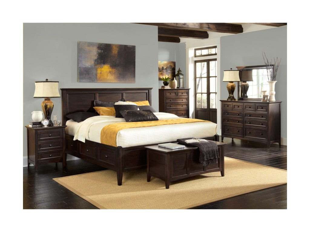 AAmerica WestlakeCalifornia King Storage Bedroom Group