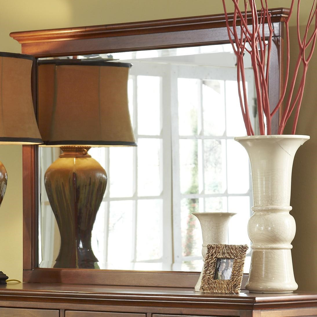 Transitional Dresser Mirror with Moulding