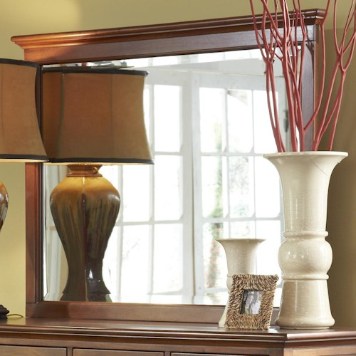 AAmerica Westlake Transitional Dresser Mirror with Moulding
