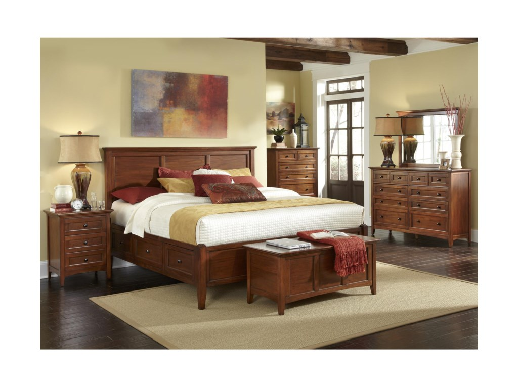 Shown with Dresser, Mirror, Storage Bench, Bed, and Night Stand