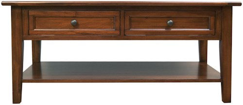 AAmerica Westlake Rectangle 2 Drawer Cocktail Table
