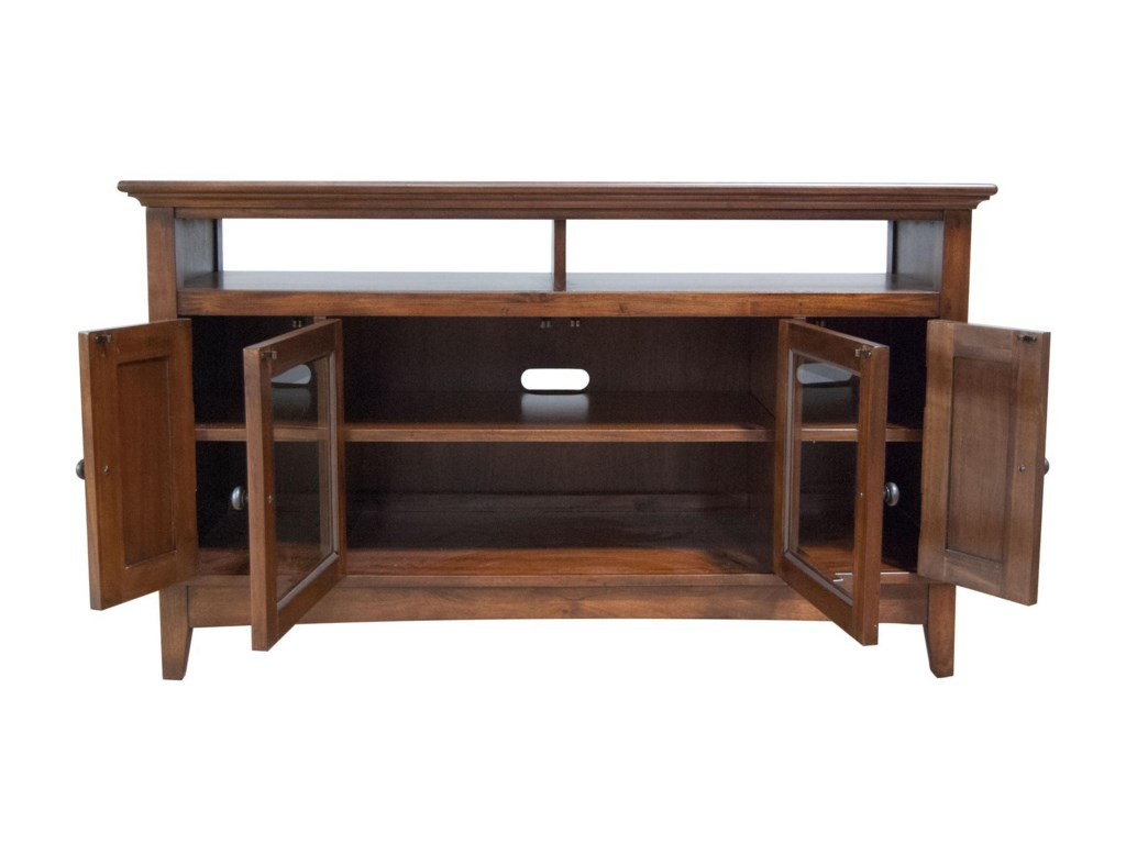 Westlake 52 Inch Wide TV Console with Door Cabinets by AAmerica at Conlin's  Furniture