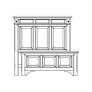AAmerica KalispellQueen Wood Mantel Bed