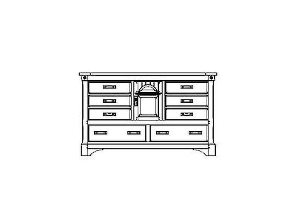 AAmerica KalispellDresser with Secret Compartments