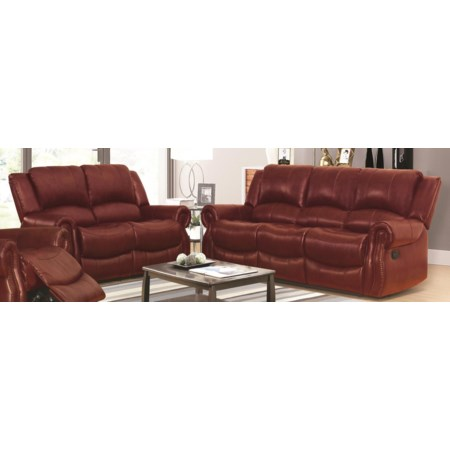 Cassia Reclining Sofa and Loveseat Package