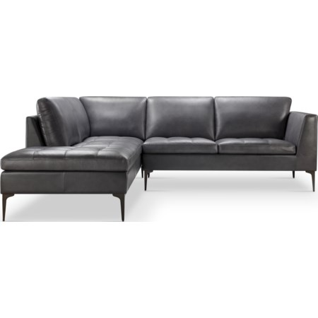 Kael Top Grain Leather Sectional