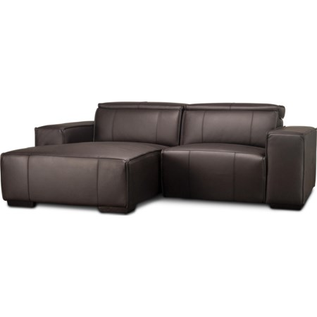 Mariella Leather Power Sectional