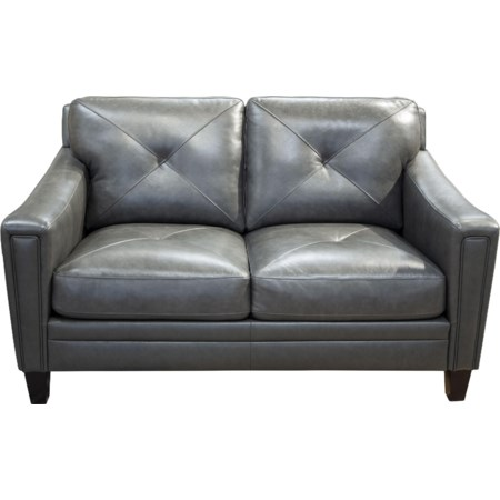 Wren Leather Match Loveseat