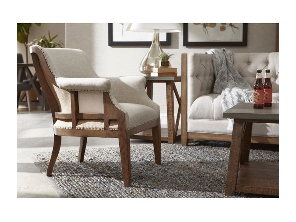 Accentrics Home Accent ChairsDeconstructed Arm Chair