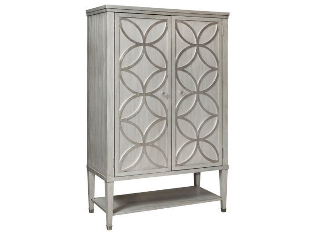 Pulaski Accentrics Home City ChicSilver Leaf Tall Door Chest