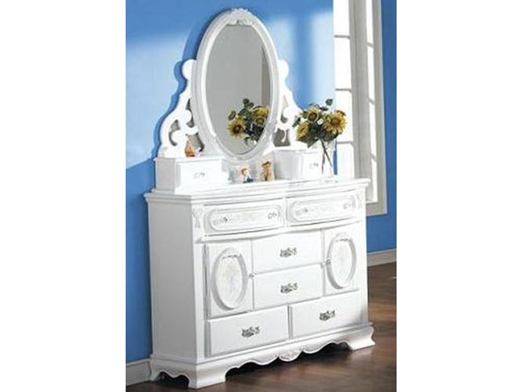 Acme Furniture FloraDresser and Mirror