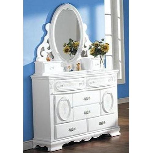 Acme Furniture 01660 Door Dresser w/ Mirror