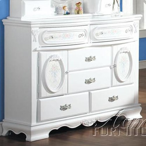 Acme Furniture 01660 Door Dresser w/ Painted Floral