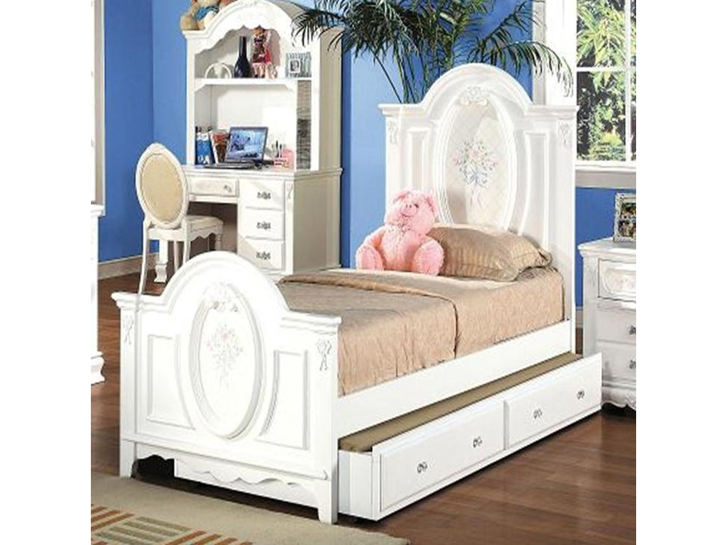 Acme Furniture FloraTwin Panel Bed