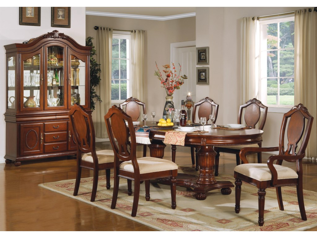 Shown with Chairs, Buffet and Hutch
