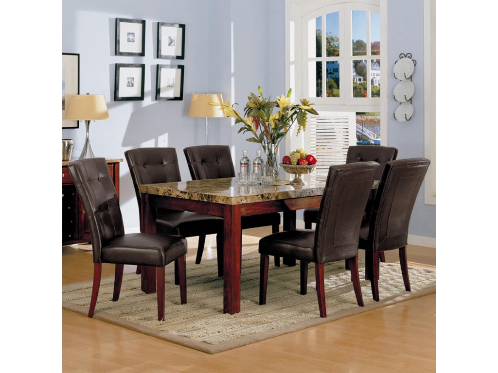 Acme Furniture 7045Bologna 7 Piece Dining Set