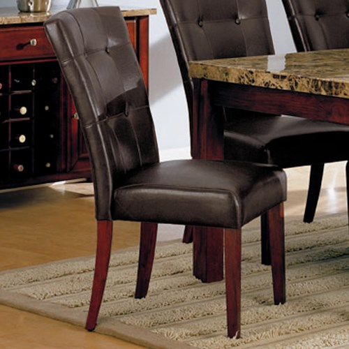 Acme Furniture 7045 Bycast Side Chair with Upholstered Seat and Back