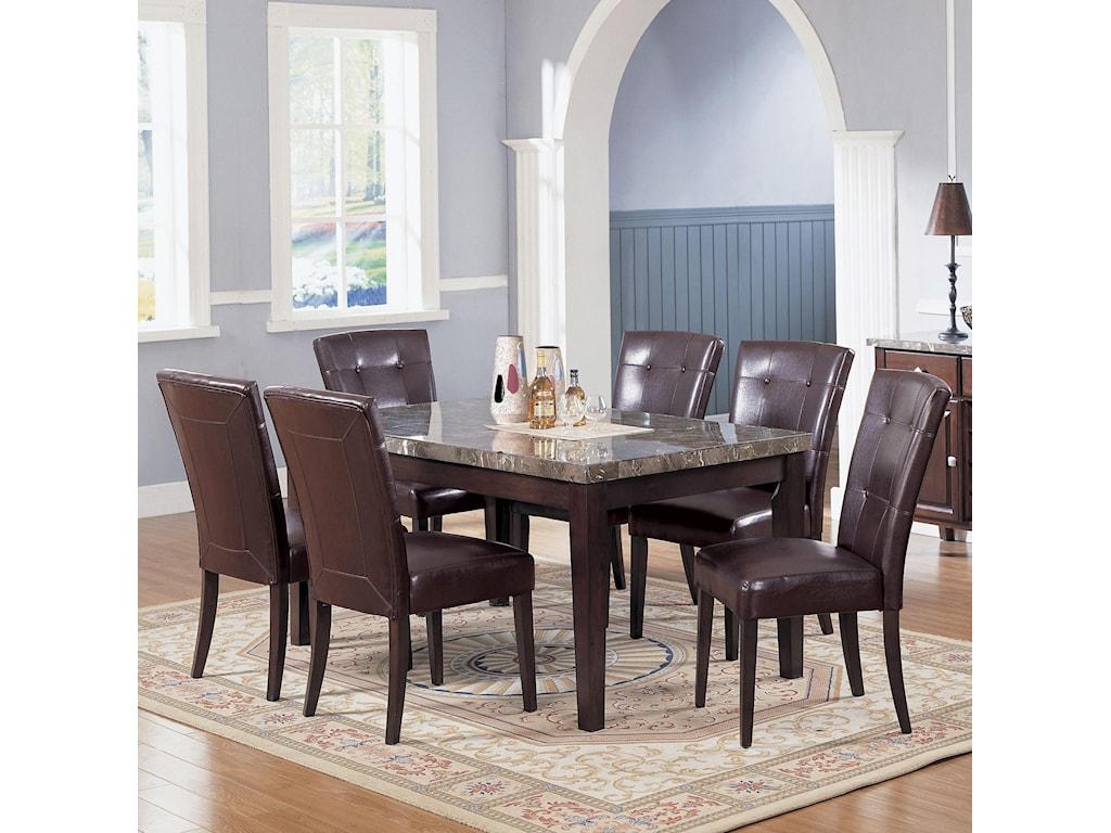 Acme Furniture 7058Seven Piece Dining Set
