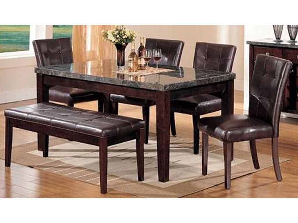 Del Sol AF Canville6 Piece Dining Table, Chair and Bench Set