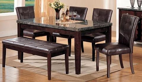 Acme Furniture Canville6 Piece Dining Table, Chair and Bench Set