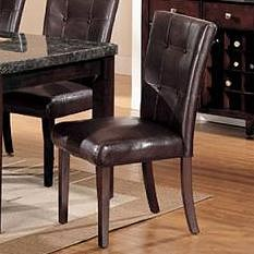 Acme Furniture Canville Dining Side Chair with Upholstered Seat and Back
