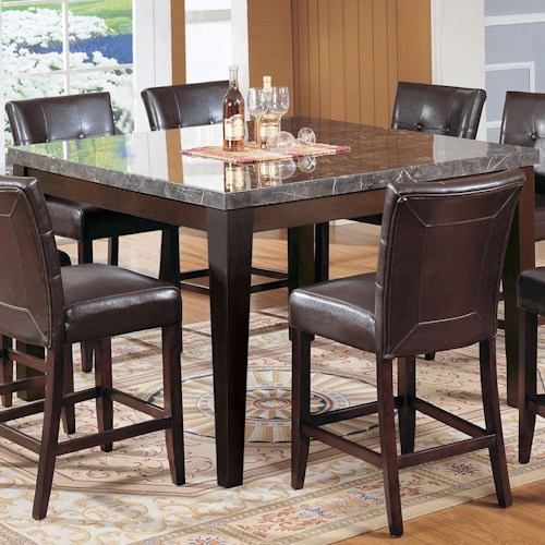 Acme Furniture Canville Canville Marble Top Counter Height Table