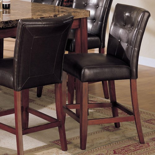Acme Furniture 7380 Counter Height Chair with Upholstered Seat