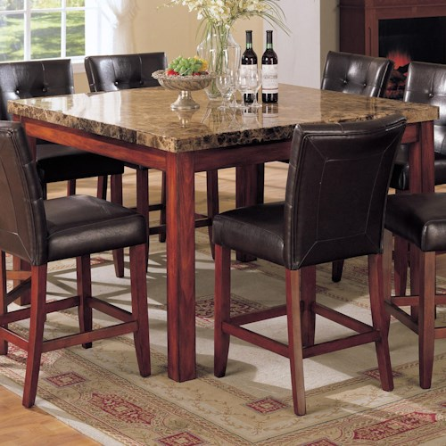 Acme Furniture 7380 Bologna Counter Height Table with Marble Top