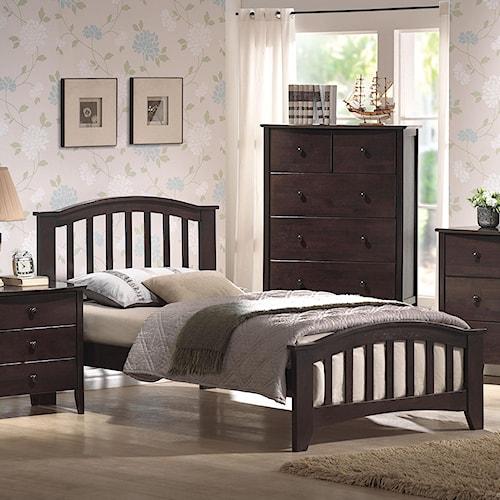 Acme Furniture San Marino Full Slatted Headboard & Footboard Bed