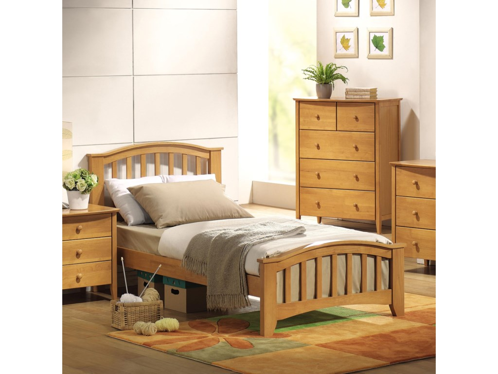 Acme Furniture San MarinoTwin Slat Bed