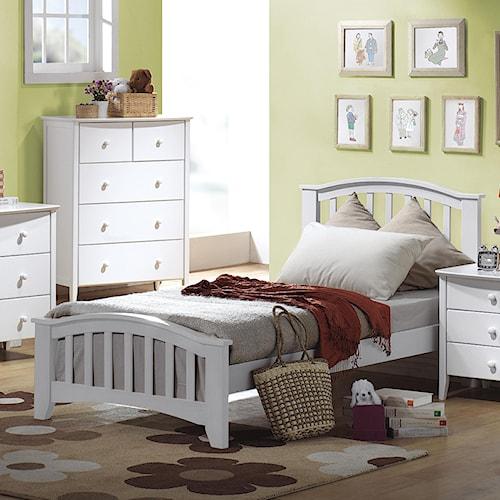 Acme Furniture San Marino Twin Slatted Headboard & Footboard Bed