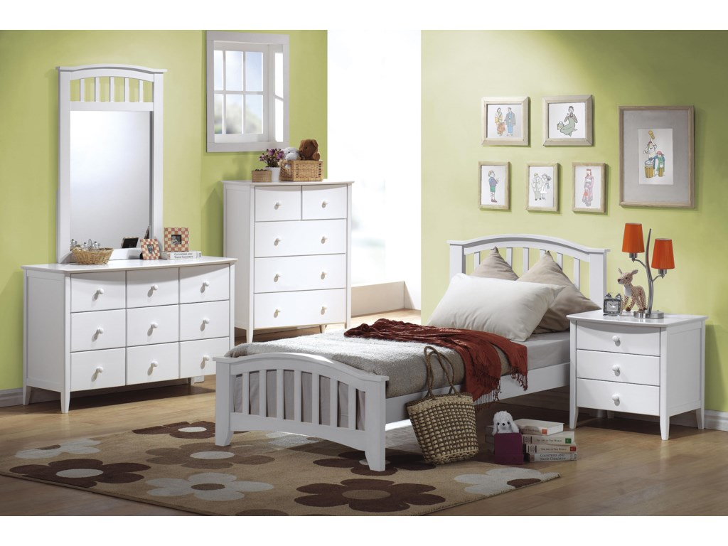 Shown with Dresser, Bed, Chest & Nightstand