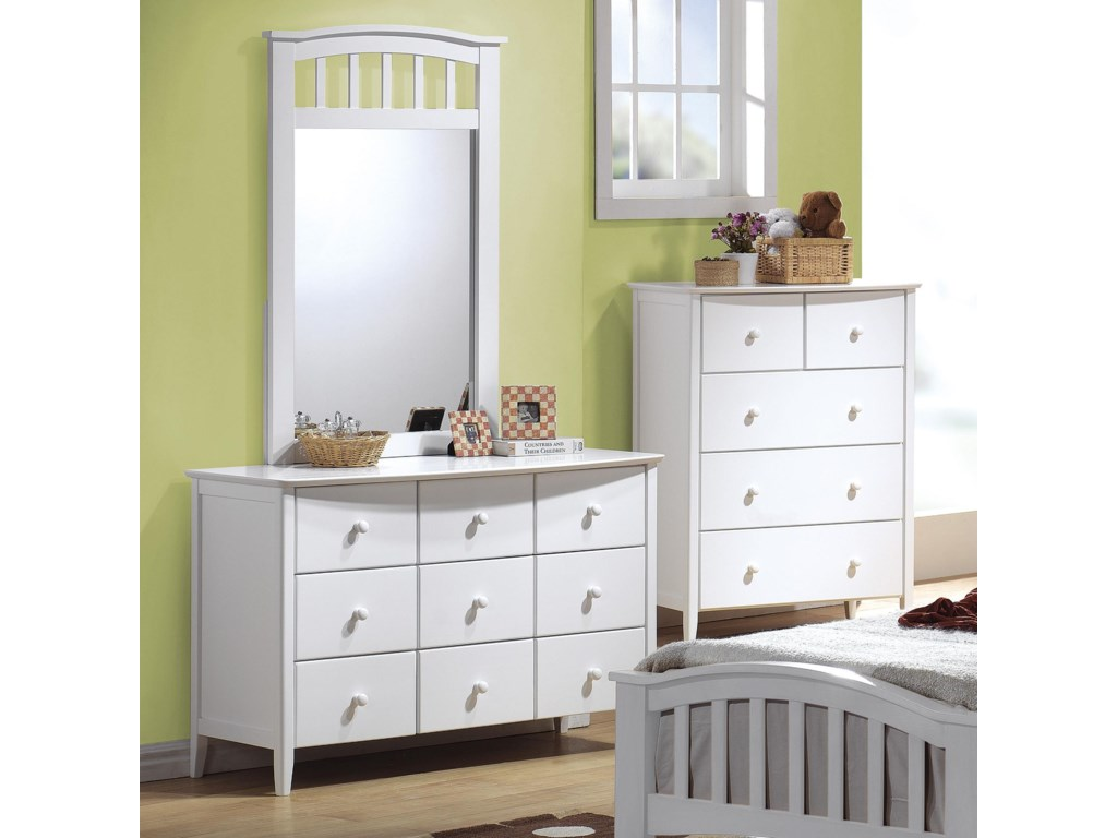 Acme Furniture San MarinoDresser & Mirror Combo