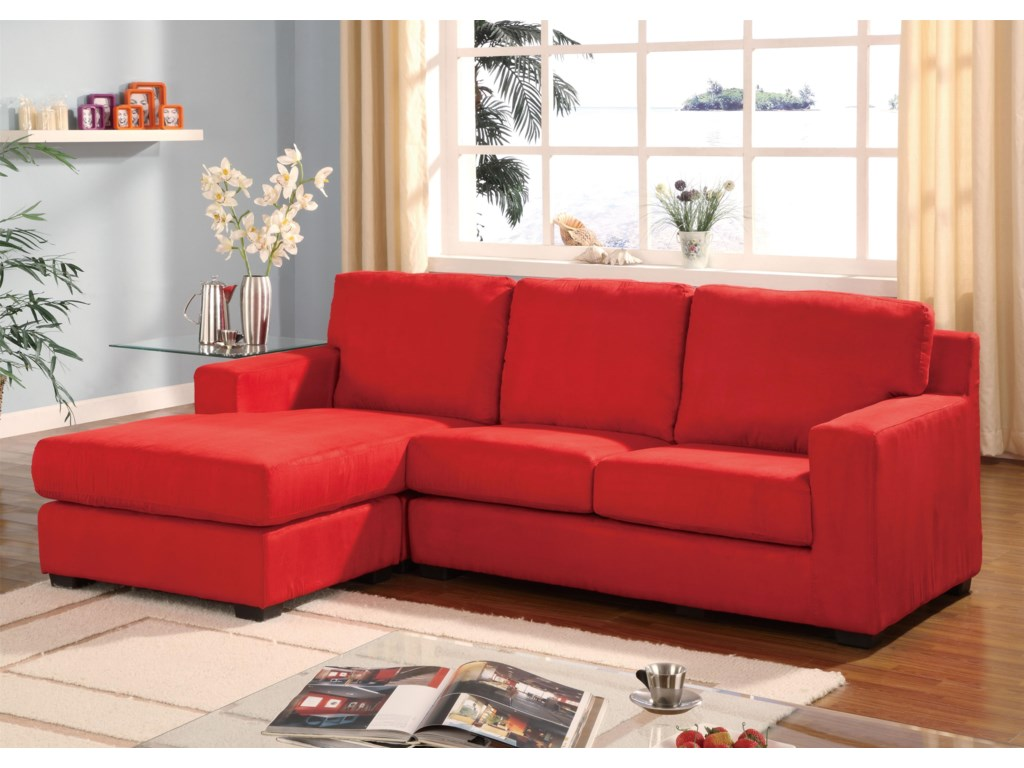 Sectionals Sectional Sofa with Left Arm Facing Chaise by Acme Furniture at  Corner Furniture