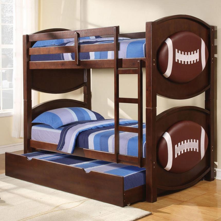 Acme Furniture All Star 11956 Sports Themed Football Bunkbed Decor
