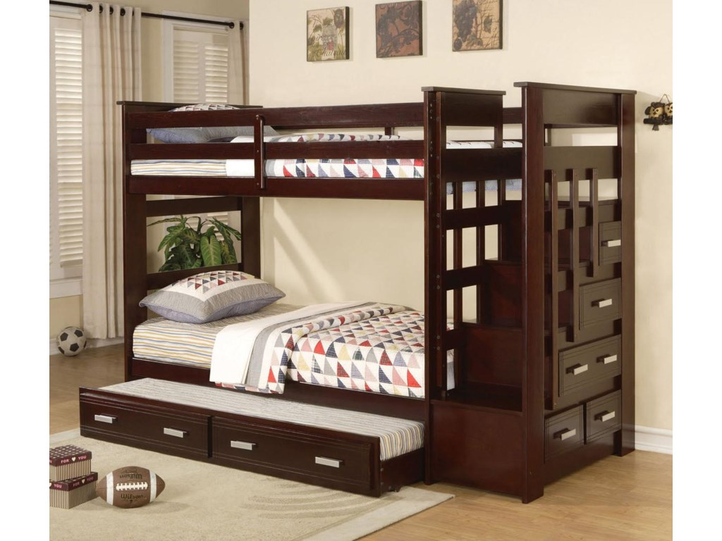 Acme Furniture AllentownStorage Bunkbed with Trundle