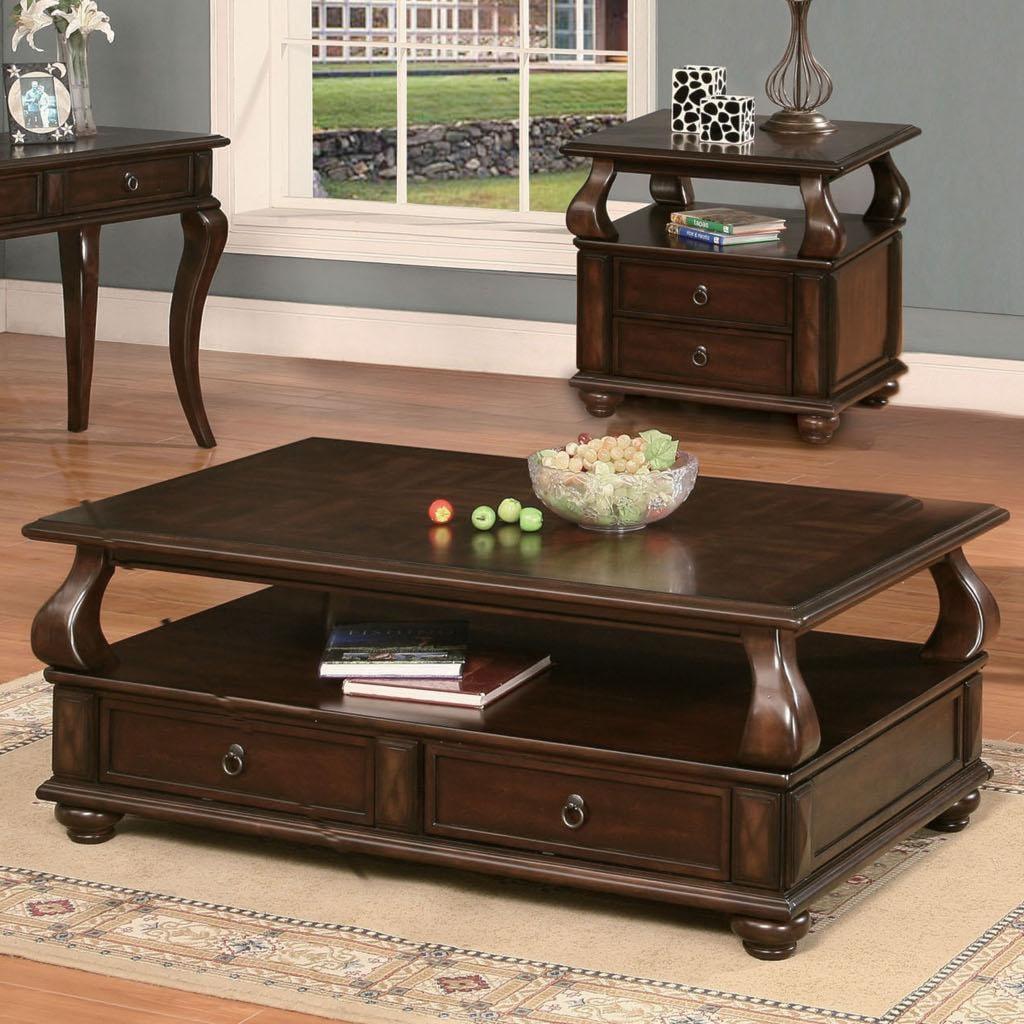 acme furniture amado regal espresso coffee table - furniture