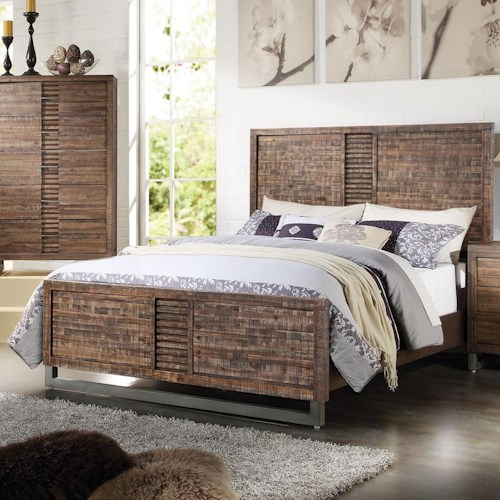 Acme Furniture Andria Contemporary King Bed With Metal Legs