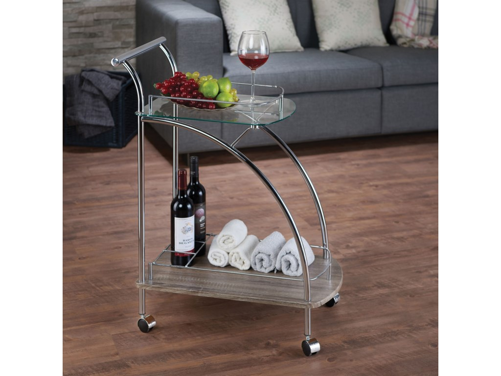 Acme Furniture BadinServing Cart