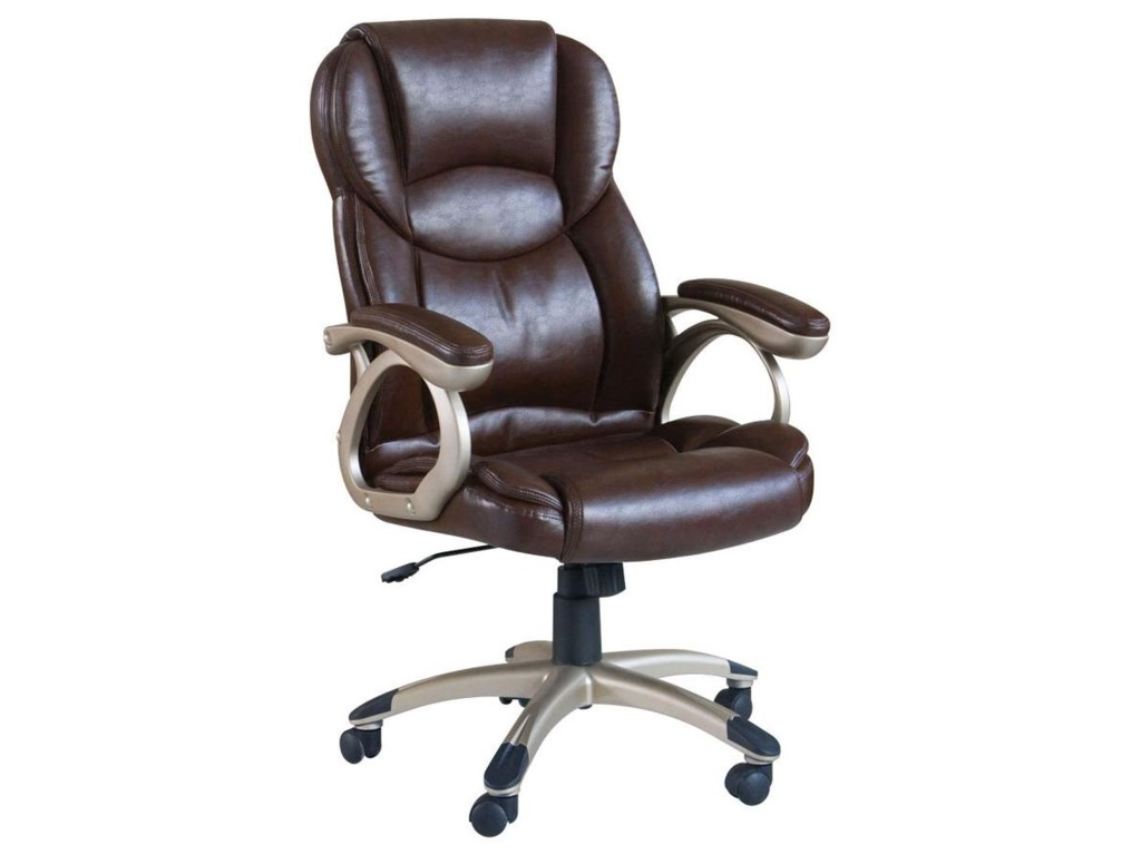 Acme Furniture BartonBrown Bycast Pu Office Chair W/Pneaumatic