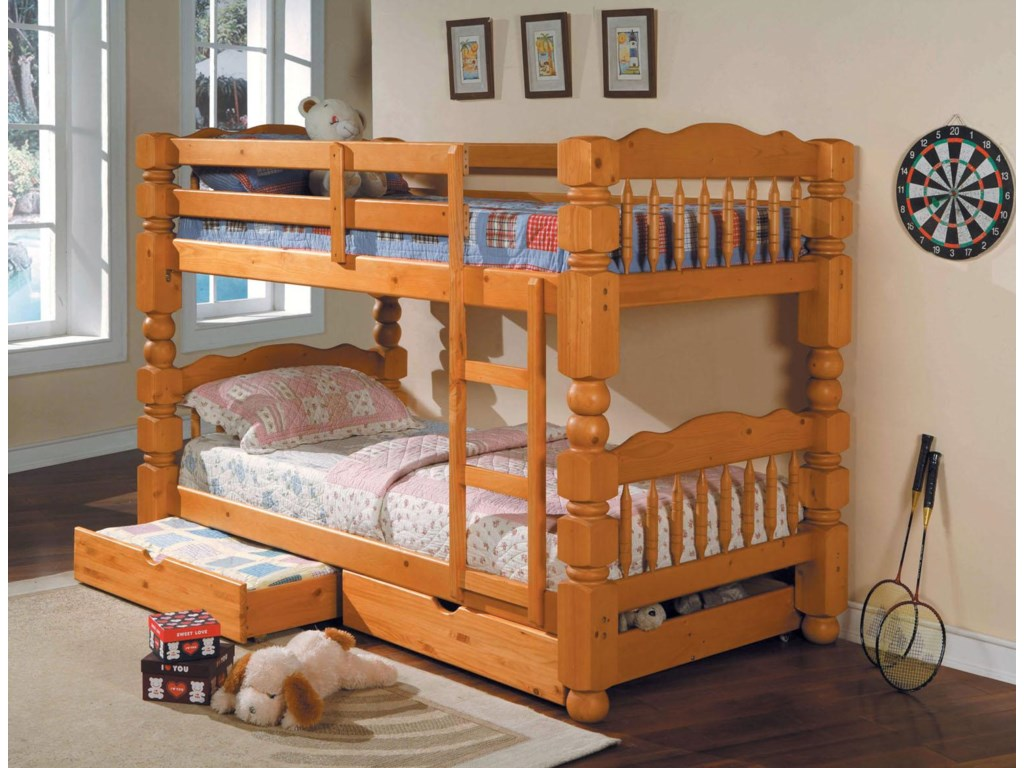 Acme Furniture BenjiTwin Bunkbed w/ Storage Drawers