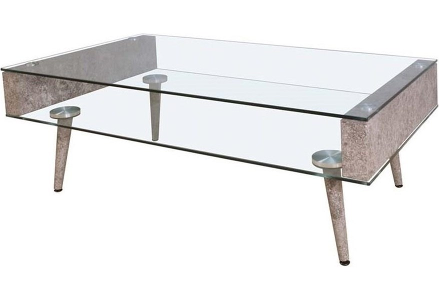Acme Furniture Booyd Contemporary Coffee Table With Glass Top And Shelf A1 Furniture Mattress Cocktail Coffee Tables