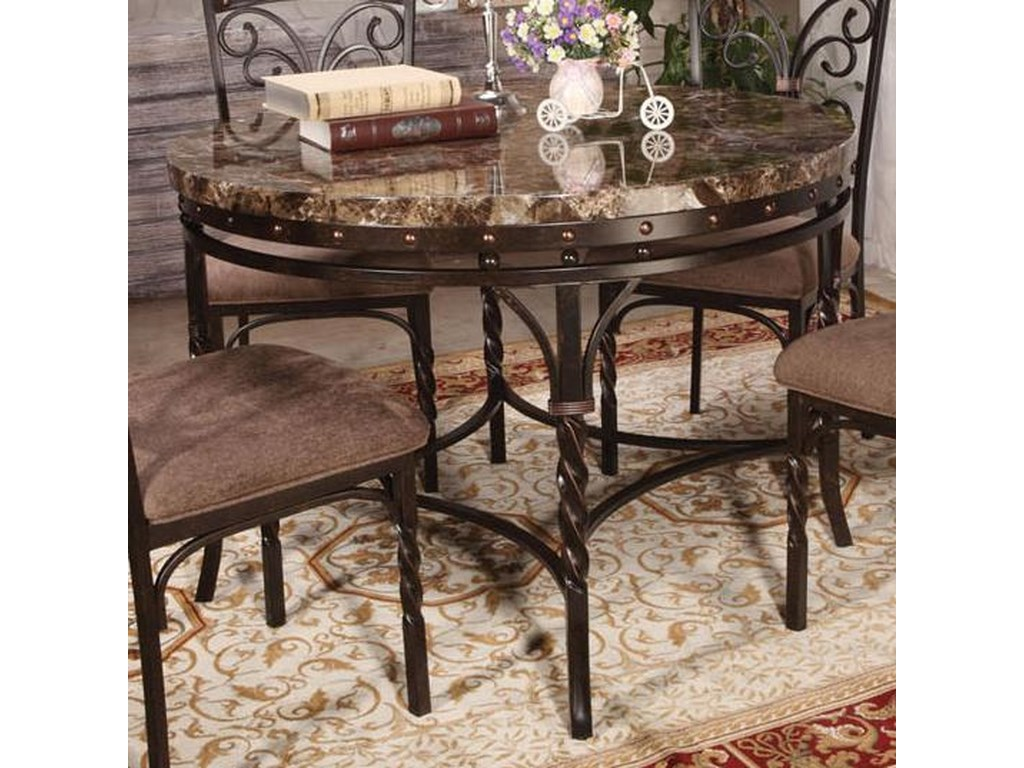 Burril Dining Table W/Faux Marble Top